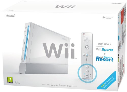 Nintendo Wii Console (White) with Wii Sports + Wii Sports Resort including Wii Remote Plus Controller (Wii)