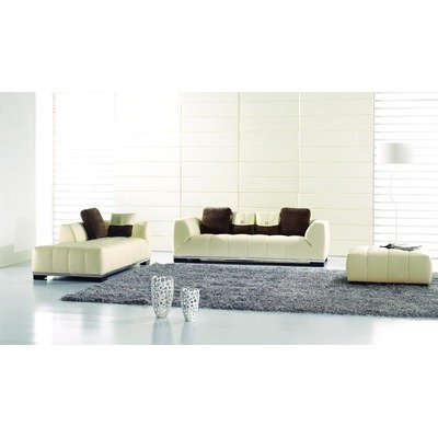 Neice Sofa with Ottoman Color: White