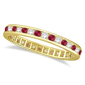 Antique Diamond and Pink Sapphire Wedding Ring Filigree Band 14 karat Yellow Gold (1.05ct) GH/VS