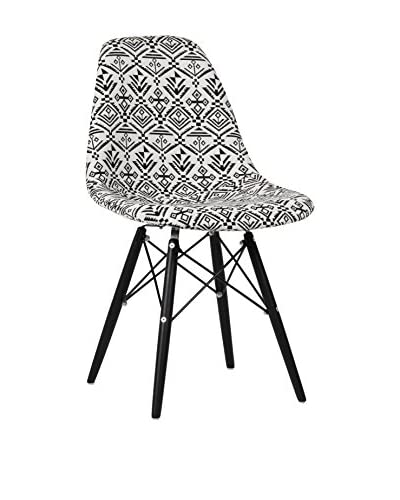 Lo+deModa Set Silla 2 Unidades Wooden Patchwork Indian