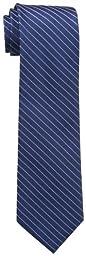 Calvin Klein Men\'s Etched Windowpane A Tie, Navy, Regular