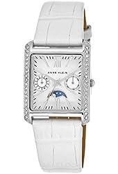 Anne Klein Women's Swarovski Crystal Glitz Leather Strap Watch, White