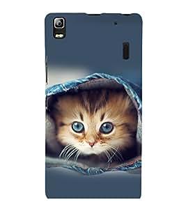 printtech Kitten Jeans Back Case Cover for Lenovo K3 Note