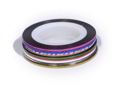 ネイルラインテープ全10色セットA ネイル ラインテープ ネイルデザイン 柄ネイル ネイルアート デザイン