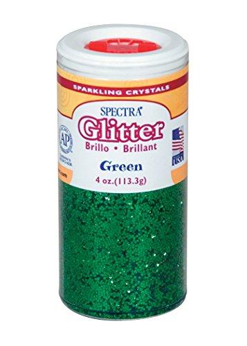 Pacon Spectra Glitter Sparkling Crystals, 4 oz. Jar, Green (91660)
