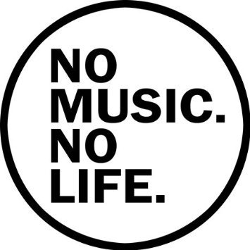 No Music No Life Bumper Sticker 4.5