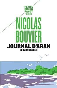 Journal d'Aran et d'autres lieux par Nicolas Bouvier
