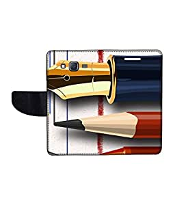 KolorEdge Printed Flip Cover For Samsung Galaxy On5 Multicolor - (1478-50KeMLogo11332SamOn5)