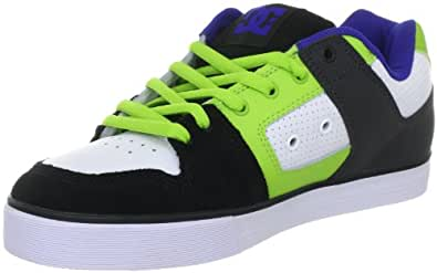 DC Shoes PURE SLIM D0301970, Herren Sportive Sneakers, Weiss (WHITE/SOFT LIME WFLD), EU 40 (US 7.5)
