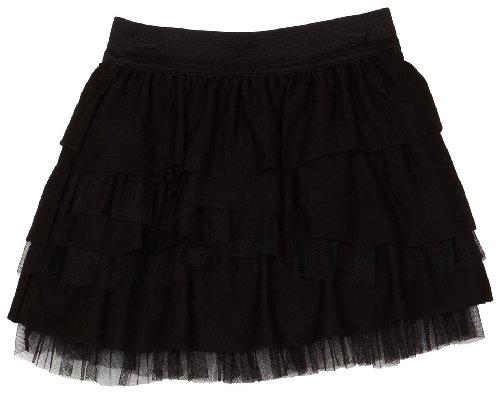 Amy Byer Girls 7-16 Slub Meshed Tiered Skirt
