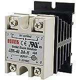 DC-AC Metal Base Solid State Relay SSR-40DA-H 40A Output 90-480V AC
