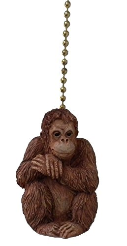 African Primate Jungle Orangutan Ape Ceiling Fan Light Pull