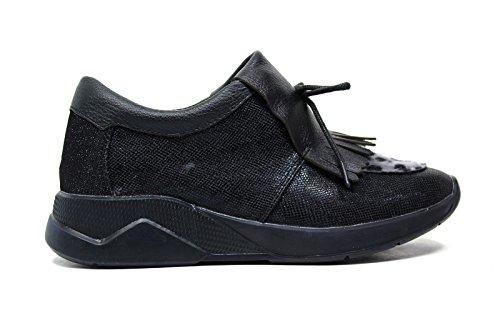Lee Roy sneakers in pelle donna colore nero L381 BLACK nuova collezione autunno inverno 2016 2017