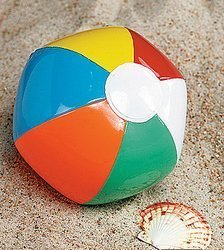 48 Mini BEACH BALLS/6-Panel Traditional Style Rainbow 6 BEACHBALLS/Pool Party FAVORS/WEDDING/Decorations/LUAU/4 DOZEN by OTC