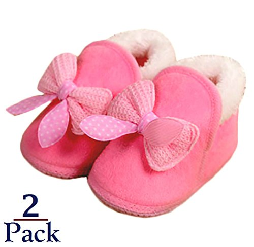 Foxy Fane Cute Non Slip Soft Sole Baby Bootie Slip On Shoes [ 0-6 Months ]