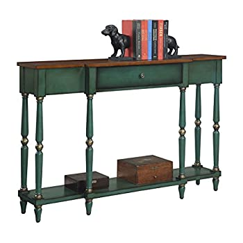 ... Convenience Concepts Wyoming Two Tone Antique Console Table ...