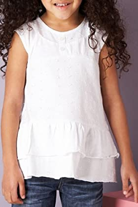 Autograph Pure Cotton Embroidered Top with Headband [T77-4100Y-Z-HFPR]