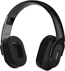 hype bluetooth 4 0 wireless headphones over the ear with mic and 13 5 hour battery includes. Black Bedroom Furniture Sets. Home Design Ideas