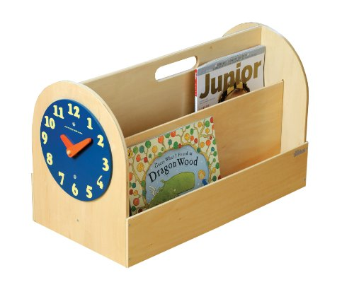 Tidy Books The Original Portable Wooden Kids Book Box and Storage Solution with Removable Play Clock - 1