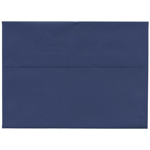 Jam Paper® - A7 (5 1/4 X 7 1/4) Presidential Blue Envelopes - 25 Envelopes Per Pack front-58846