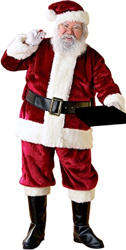 Rubie's Costume Co Men's Crimson Regency Plus Size Santa Claus Suit