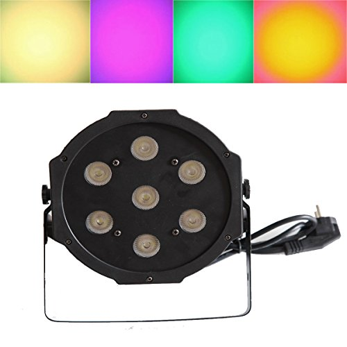 Yiscor Stage Lighting Led Par Light 7Leds 70W Rgbw 4In1 Dmx512 For Dj Disco Club Home Garden Xmas Christmas Birthday Show Party Effect (Pack Of 1)