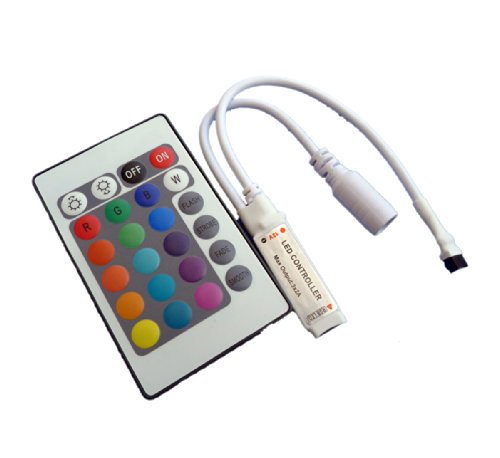 Rgb Led Controller For 5050/3528 Led Strip Light 24Keys Mini Ir Remote Controller