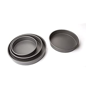 ForTheChef's 4 Piece Deluxe Professional Non-Stick Round Cake Pan Set
