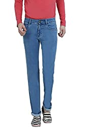 Louppee Jeans Men's Relaxed Jeans (Vkgroup-405_Ice Blue_32)