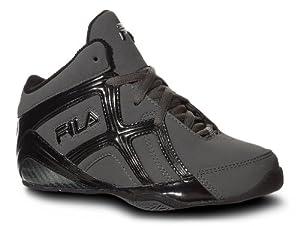 Fila Revenge 2 Basketball Shoe (Little Kid/Big Kid), Pewter/Black/Metallic Silver, 2 M US Little Kid