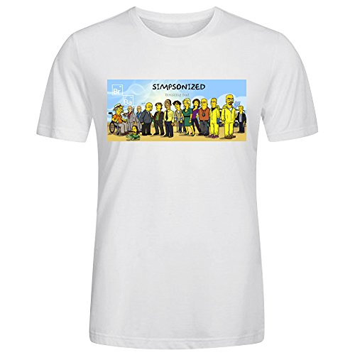 Coolest-O-Neck-All-Match-Tee-Shirt-Camiseta-Rope-de-Breaking-Bad-Simpsonized-BASIC-para-Hombre