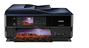 Epson Artisan 837 Wireless All-in-One Color Inkjet Printer, Copier, Scanner, Fax, iOS/Tablet/Smartphone/AirPrint Compatible (C11CB20201)
