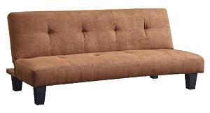 Homelegance 4806MBR Albert Convertible/Adjustable Sofa with Bed, Brown Microfiber