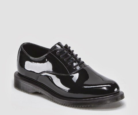 Ladies Dr Martens - Bennett; Classic Patent Leather, Casual Fashion / Formal, Elegant Lace Up Shoes