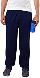 Colors & Blends -Navy Blue- Cotton blended Track Pants with Zipper Pockets- Size XL