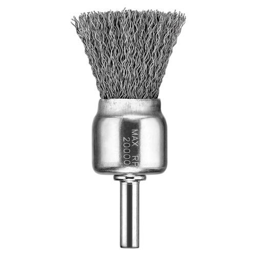 DEWALT DW49053 1-Inch by 1/4-Inch XP .020 Stainless Crimp Wire End Brush 0 127mm standard stainless steel wire brush for metal anilox roller