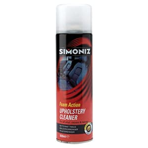 simoniz stain remover upholstery cleaner with brush 500ml car motorbike. Black Bedroom Furniture Sets. Home Design Ideas