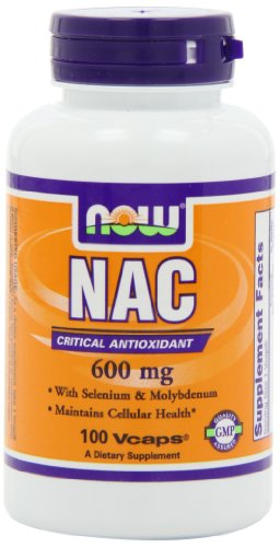 Now Foods Nac-Acetyl Cysteine 600Mg, 100 Vcaps