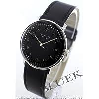 [ユンハンス]JUNGHANS 腕時計 マックスビル 手巻き レザー ブラック ボーイズ 027/3702.00 [並行輸入品]