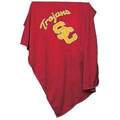 USC Trojans NCAA Sweatshirt Blanket Throw by logo chair