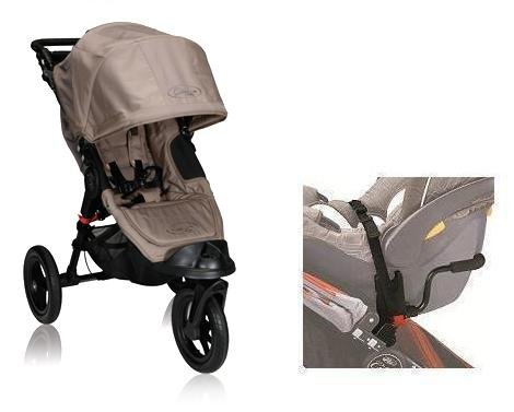 Baby Jogger Elite Stroller in Sand WITH Car Seat Adapter