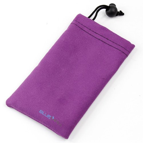 BlueMall Microfiber Sleeve Pouch Cover Case - Purple For LG Mach LS860, Optimus G LS970, Optimus G E970