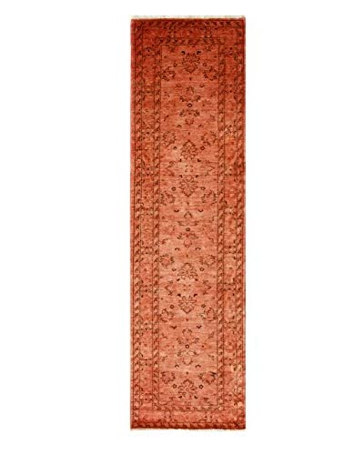 nuLOOM One-of-a-Kind Hand-Knotted Vintage Overdyed Area Rug, Rust, 2' 6 x 9' 4 Runner
