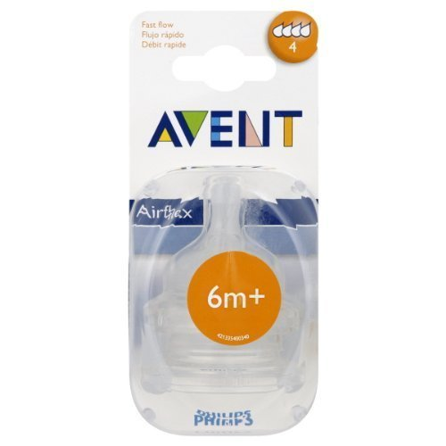 Avent Nipple, Airflex, Fast Flow 2 ct
