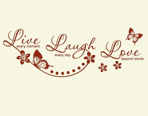 Wandsticker Live Laugh Love