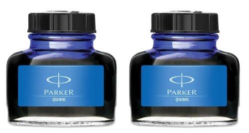 Parker-Quink : Flacon d'encre permanente Bleu Lot de 2
