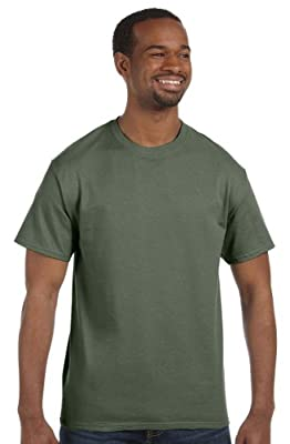 Hanes - 6 oz. Tagless T-Shirt >> 2XL,FATIGUE GREEN
