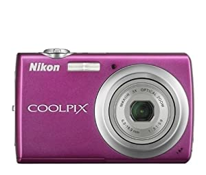 Nikon Coolpix S220 10MP Digital Camera with 3x  Optical Zoom and 2.5 inch LCD (Magenta)