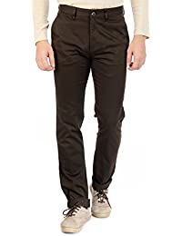 Sting Brown Regular Fit Cotton Casual Trouser