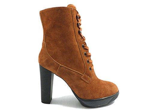 scarpe donna HOGAN stivaletti marrone camoscio AZ915 (35 EU)